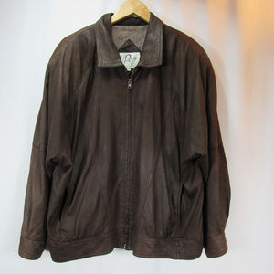 Remy Butter Soft Brown Leather Bomber Jacket